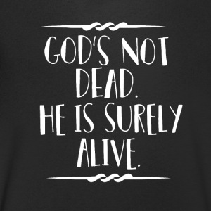 God is Alive - Believe - Mannen T-shirt met V-hals