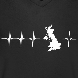 I love the United Kingdom (heartbeat) - Men's V-Neck T-Shirt