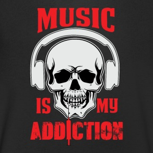 Musik min Addiction - T-shirt med v-ringning herr