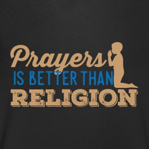 Prayers over Religion - Men's V-Neck T-Shirt