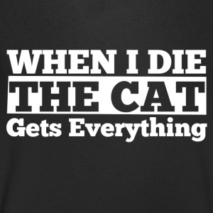 When I the the cat gets everything - Men's V-Neck T-Shirt
