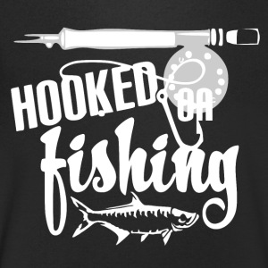 Hooked on Fishing - Vissen - Mannen T-shirt met V-hals