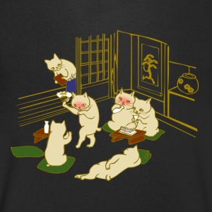 katten Party - Mannen T-shirt met V-hals