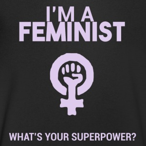 I am a feminist, what's your super power? - Men's V-Neck T-Shirt