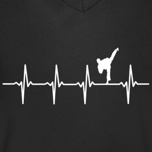 Karate heart beat motif - Men's V-Neck T-Shirt