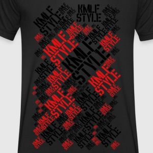 KMLF STYLE graphisme LONG red 2 - T-shirt Homme col V