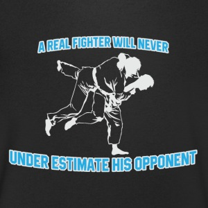 Real Fighter - Mannen T-shirt met V-hals