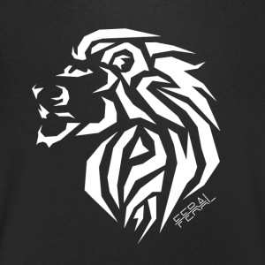 Lion Tribal - T-shirt Homme col V