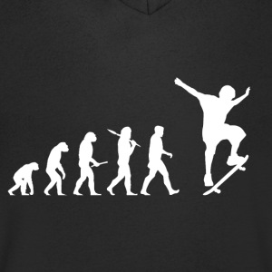 Evolution Skateboard! Skate! - Men's V-Neck T-Shirt