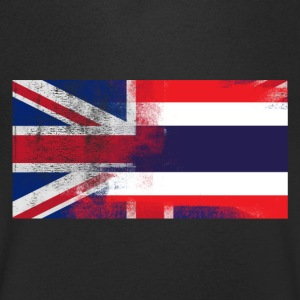 British Thai Half Thailand Half UK Flag - T-shirt med v-ringning herr