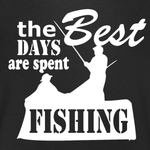 Best Days are spent Fishing - Fishing - Men's V-Neck T-Shirt