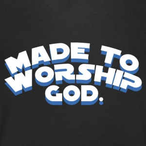 Made to Worship God - Believe - Men's V-Neck T-Shirt
