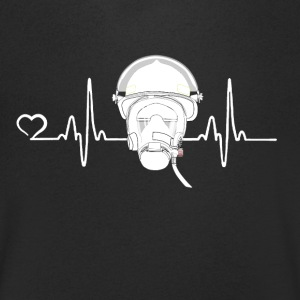 Fire Department - Heartbeat - Mannen T-shirt met V-hals