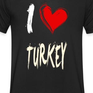I love turkey - Men's V-Neck T-Shirt