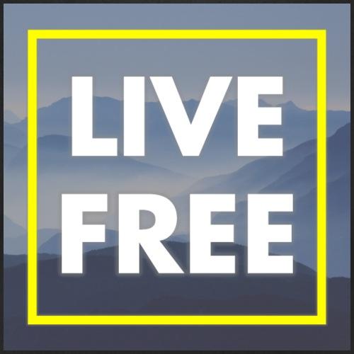 LIVE FREE - Männer Bio-T-Shirt mit V-Ausschnitt von Stanley & Stella