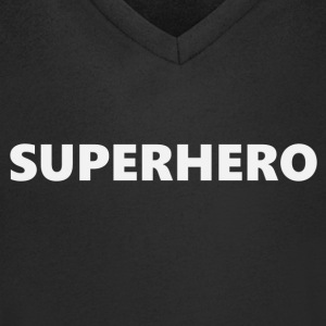 Superhero V1bkEN - Men's V-Neck T-Shirt