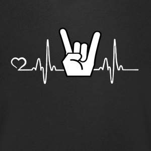 Rock'n'Roll - heart beat - Men's V-Neck T-Shirt