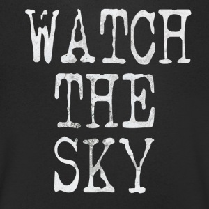 Watch the sky - T-shirt med v-ringning herr