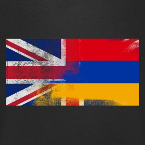 British armensk Half Armenia Half UK Flag - T-skjorte med V-utsnitt for menn
