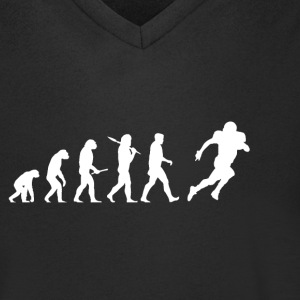 Evolution Voetbal! American Football! grappig! - Mannen T-shirt met V-hals