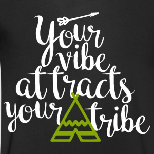 Your vibe attracts your tribe - Männer T-Shirt mit V-Ausschnitt