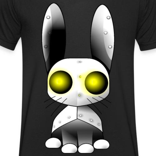 robotkanin med gula ögon - Men's Organic V-Neck T-Shirt by Stanley & Stella