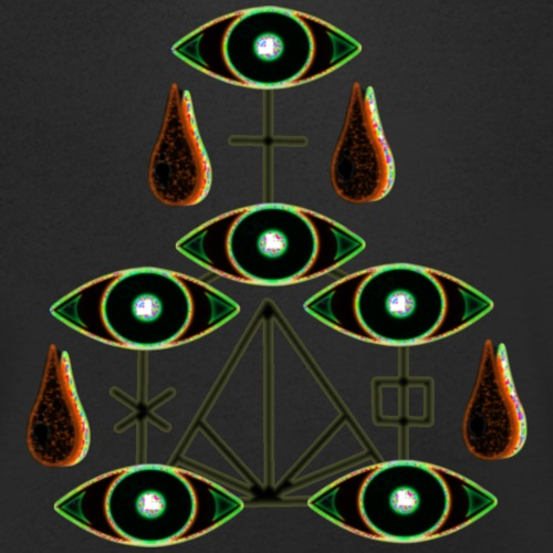 black mysterious eyes with magic markings - Men's Organic V-Neck T-Shirt by Stanley & Stella