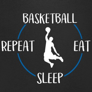 Basketball, Eat, Sleep, Repeat - T-skjorte med V-utsnitt for menn