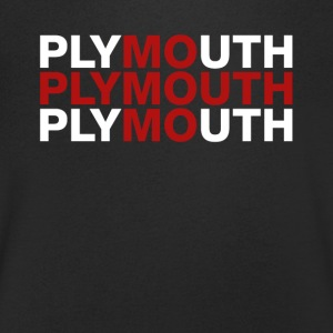 Plymouth United Kingdom Flag Shirt - Plymouth - T-shirt med v-ringning herr