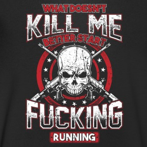Wat Doesn t Kill Me! Badass, rock, Patriot! - Mannen T-shirt met V-hals