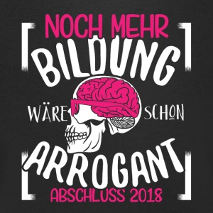More education would already be arrogant, conclusion 2018 - Men's V-Neck T-Shirt