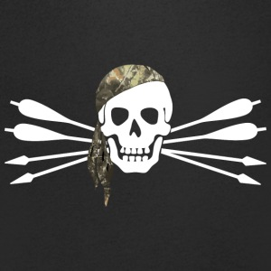 Pirate of archery - Skull and arrows - Men's V-Neck T-Shirt