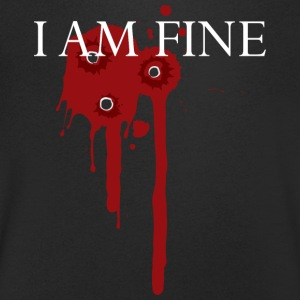 I am fine! funny! Carnival wound - Men's V-Neck T-Shirt