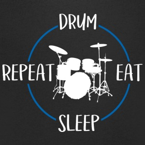 Drum, Eat, Sleep, Repeat - Men's V-Neck T-Shirt