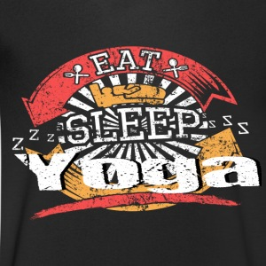 Eat Sleep Yoga - Mannen T-shirt met V-hals