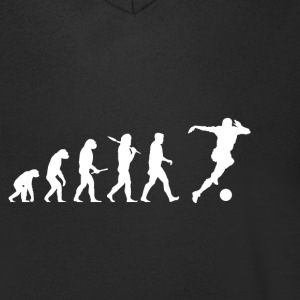 Evolution Soccer! Soccer! Football! - Men's V-Neck T-Shirt