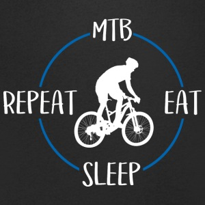 MTB, Eat, Sleep, Repeat - T-skjorte med V-utsnitt for menn