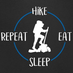 Hike, Eat, Sleep, Repeat - Maglietta da uomo con scollo a V