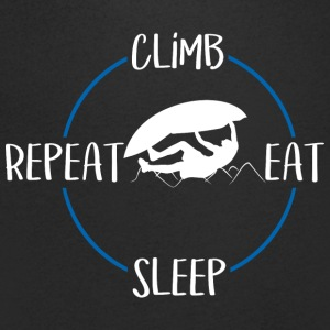 Climb, Eat, Sleep, Repeat - Men's V-Neck T-Shirt