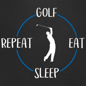 Golf, Eat, Sleep, Repeat - T-skjorte med V-utsnitt for menn
