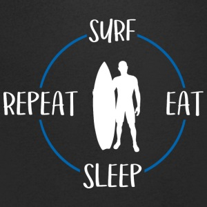 Surf, Eat, Sleep, Repeat - Camiseta de pico hombre