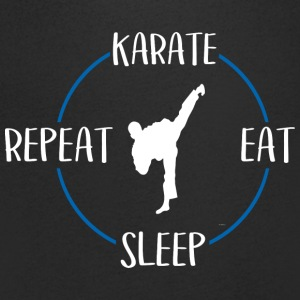 Karate, Eat, Sleep, Repeat - Maglietta da uomo con scollo a V