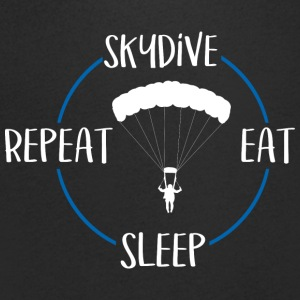 Skydive, Eat, Sleep, Repeat - Mannen T-shirt met V-hals