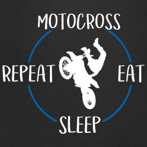 Motocross, Eat, Sleep, Repeat - T-skjorte med V-utsnitt for menn
