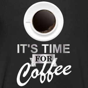 Coffee time argent - T-shirt Homme col V