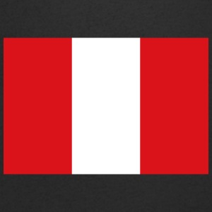 National Flag Of Peru - T-shirt med v-ringning herr