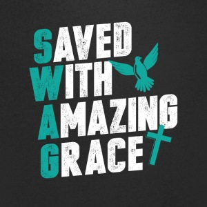 Save with amazing grace - Men's V-Neck T-Shirt