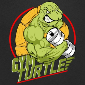 Gym Turtle Gym Design - Mannen T-shirt met V-hals