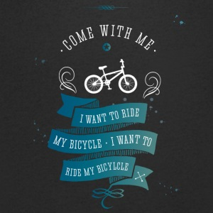 I want to ride my bicycle bmx bike bike lol - Men's V-Neck T-Shirt