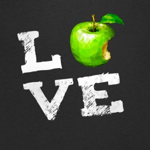 Love apple apple vegan pc nerd geek humor Fruits g - Men's V-Neck T-Shirt